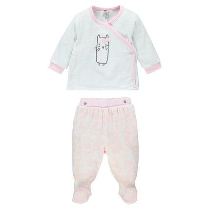Pyjama naissance en velours