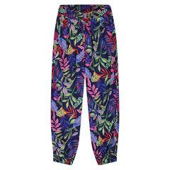 Άνετο παντελόνι με εμπριμέ μοτίβο ζούγκλα