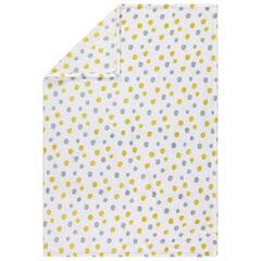 Κουβέρτα από sherpa με πουά μοτίβο σε όλη την επιφάνεια
