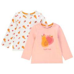 Σετ από 2 t-shirts μακρυμάνικα με σχέδια για bebe κορίτσι , Orchestra