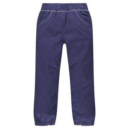 Pantalon battle en popeline de coton