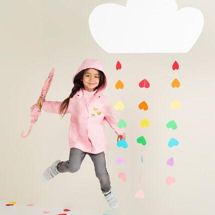 Αδιάβροχο αντιανεμικό μπουφάν με ζέρσεϊ επένδυση και κεντήματα ©Smiley
