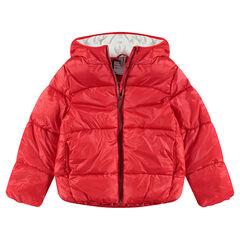 Παιδικά - Καπιτονέ μπουφάν με κουκούλα και επένδυση από μικροφλίς