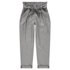 Παιδικά - Ψηλόμεσο παντελόνι σε ύφανση με διακοσμητικό σχέδιο