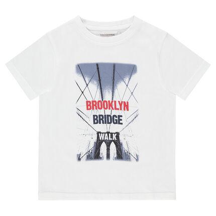 039afdb4062 Κοντομάνικη μπλούζα από ζέρσεϊ με διακοσμητική στάμπα - Orchestra GR
