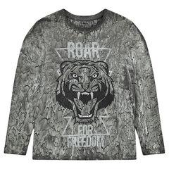 Παιδικά - Μακρυμάνικη μπλούζα με τύπωμα τίγρη