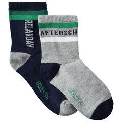 Σετ 2 ζευγάρια ασορτί κάλτσες με ζακάρ μοτίβο