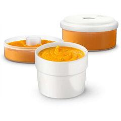 Pots de conservation pour aliments frais - 2 pièces