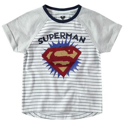 b9302a44a01b Κοντομάνικη μπλούζα με ρεγκλάν μανίκια και λογότυπο Superman από ...