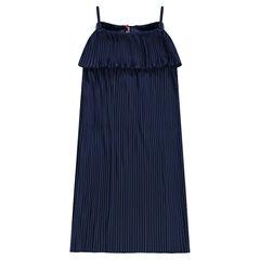 Παιδικά - Μακρύ πλισέ φόρεμα με βολάν