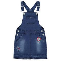 Φόρεμα-σαλοπέτα με κεντήματα και καρδιά από πούλιες