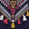 Πλεκτό φόρεμα με ζακάρ μοτίβο και φουντίτσες