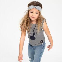 Ριγέ αμάνικη μπλούζα με βολάν και στάμπα Μίνι της ©Disney