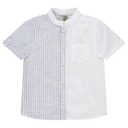 Κοντομάνικο ριγέ πουκάμισο με ρίγες