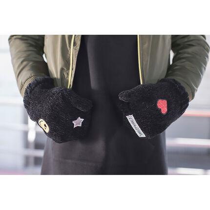 Πλεκτά γάντια με μπαλώματα ©Smiley