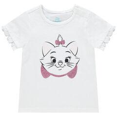 T-shirt manches courtes print Marie à sequins Disney , Orchestra