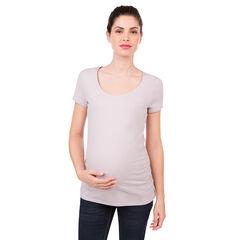 Κοντομάνικη μπλούζα εγκυμοσύνης από βιολογικό βαμβάκι