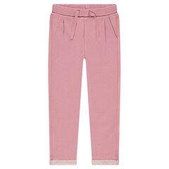 Παντελόνι φόρμας από φανέλα μελανζέ με ασημί ίνες