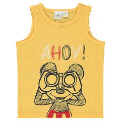 Αμάνικο μπλουζάκι από ζέρσεϊ slub ύφασμα με τον Μίκυ της Disney