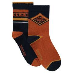 Σετ 2 ζευγάρια κάλτσες με διακοσμητικά σχέδια