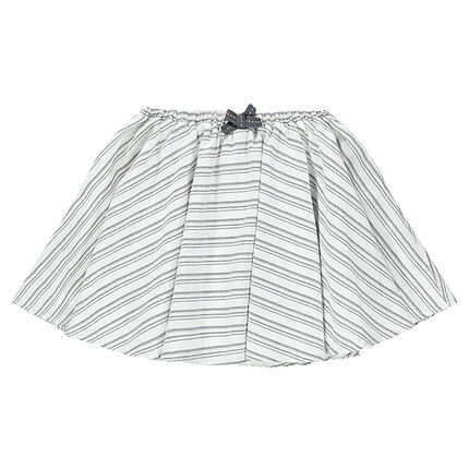 Εβαζέ φούστα με διακοσμητικές ρίγες