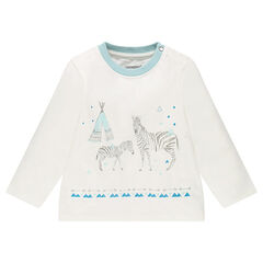 Μακρυμάνικη μπλούζα με στάμπα με ζέβρες