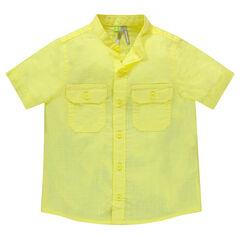 Παιδικά - Κοντομάνικο πουκάμισο με μάο γιακά