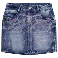 Παιδικά - Τζιν φούστα από used ντένιμ με μόνιμες τσακίσεις