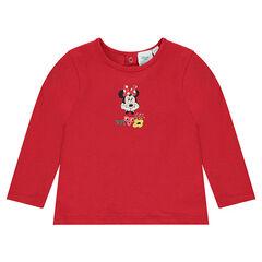 Μακρυμάνικη μπλούζα με στάμπα τη Μίνι της Disney