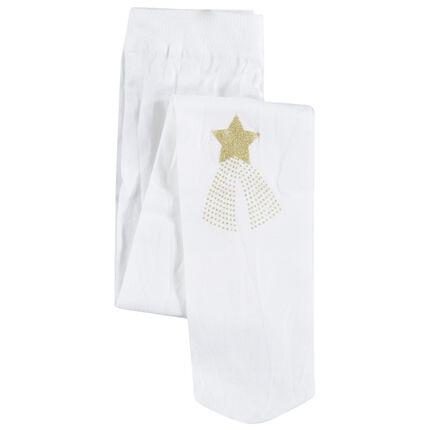 Λεπτό καλσόν με τυπωμένο χρυσαφί αστέρι