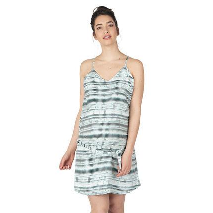 Φόρεμα εγκυμοσύνης με έθνικ σχέδιο και κορδόνια για δέσιμο