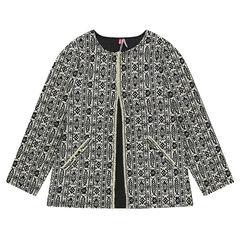 Βαμβακερό φόρεμα με διακοσμητικό μοτίβο