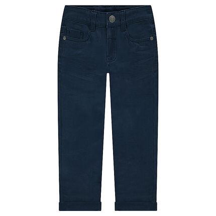 Παιδικά - Παντελόνι με τσαλακωμένη όψη και τσέπη με ανάγλυφα γράμματα