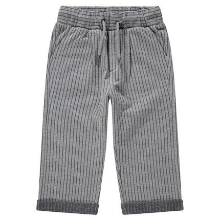 Παντελόνι φόρμας με κάθετες λεπτές ρίγες