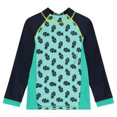 Μπλούζα για τη θάλασσα με αντηλιακή προστασία και τύπωμα ανανάδες