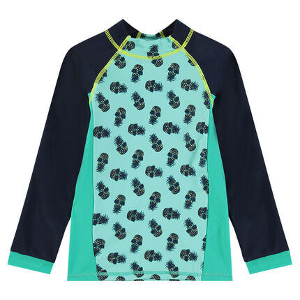 1f538542985 Μπλούζα για τη θάλασσα με αντηλιακή προστασία και τύπωμα ανανάδες ...