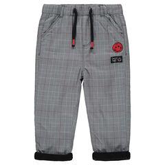 Παντελόνι με καρό μοτίβο, σήμα ©Smiley και επένδυση από μικροφλίς
