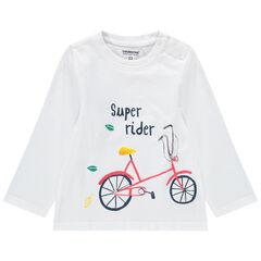 Μακρυμάνικη μπλούζα από βιολογικό βαμβάκι με τυπωμένο μοτίβο