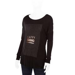 Μακρυμάνικη μπλούζα εγκυμοσύνης με τυπωμένο μήνυμα