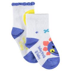 Σετ 2 ζευγάρια ασορτί κάλτσες με μοτίβο ©Smiley