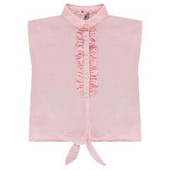 Αμάνικο πουκάμισο σε φαρδιά γραμμή με κορδόνια που δένουν μπροστά