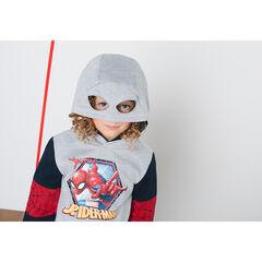 Φούτερ φανελένιο με στάμπα Spiderman της ©Marvel και κουκούλα σε στιλ μάσκας