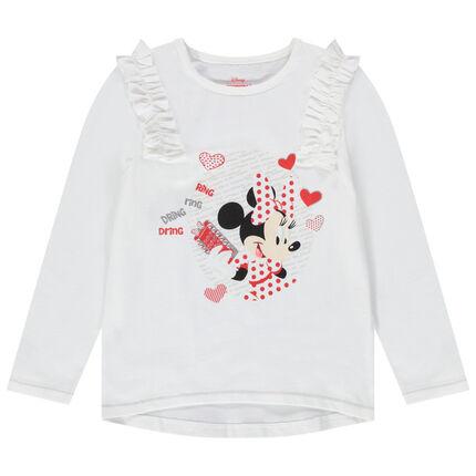 Μακρυμάνικη μπλούζα με στάμπα τη Μίνι της Disney και κυψέλες