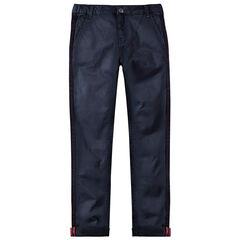 Παιδικά - Παντελόνι με μήκος μέχρι τον αστράγαλο, λοξές τσέπες και πλεκτές λωρίδες