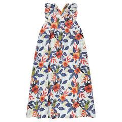 Παιδικά - Μακρύ φόρεμα με φλοράλ μοτίβο