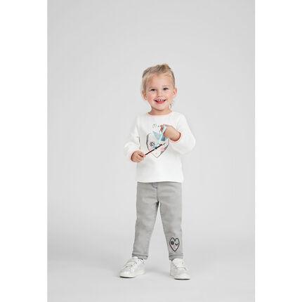 Μακρυμάνικη μπλούζα ζέρσεϊ με τυπωμένη καρδιά