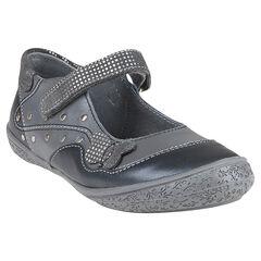 Δερμάτινα παπούτσια αγκαλιάς σε γκρι ανθρακί με μπάλωμα και πριτσίνια
