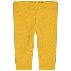 Κίτρινο κολάν με πλεξούδες στην ύφανση και χρυσαφί ρέλι