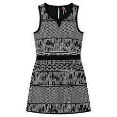 Αμάνικο φόρεμα με ζακάρ μοτίβο