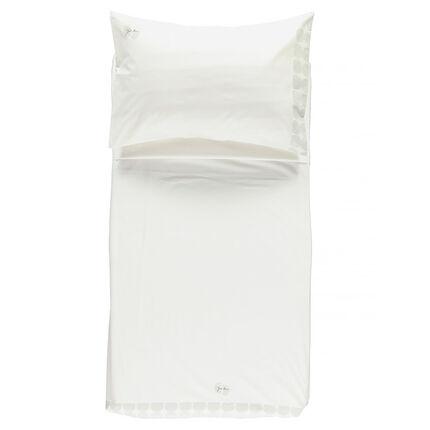 Set de lit avec drap plat et taie d'oreiller 160 x 110 cm